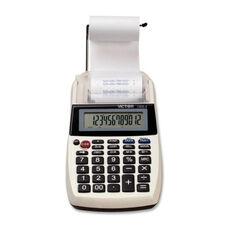 Victor Technology 12 Digit Printing Calculator - Portable - 4