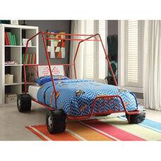 Xander Metal Go Kart Bed - Twin - Red