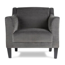 Grotto Polyester Accent Chair with Solid Wood Tapered Legs - Empire Charcoal