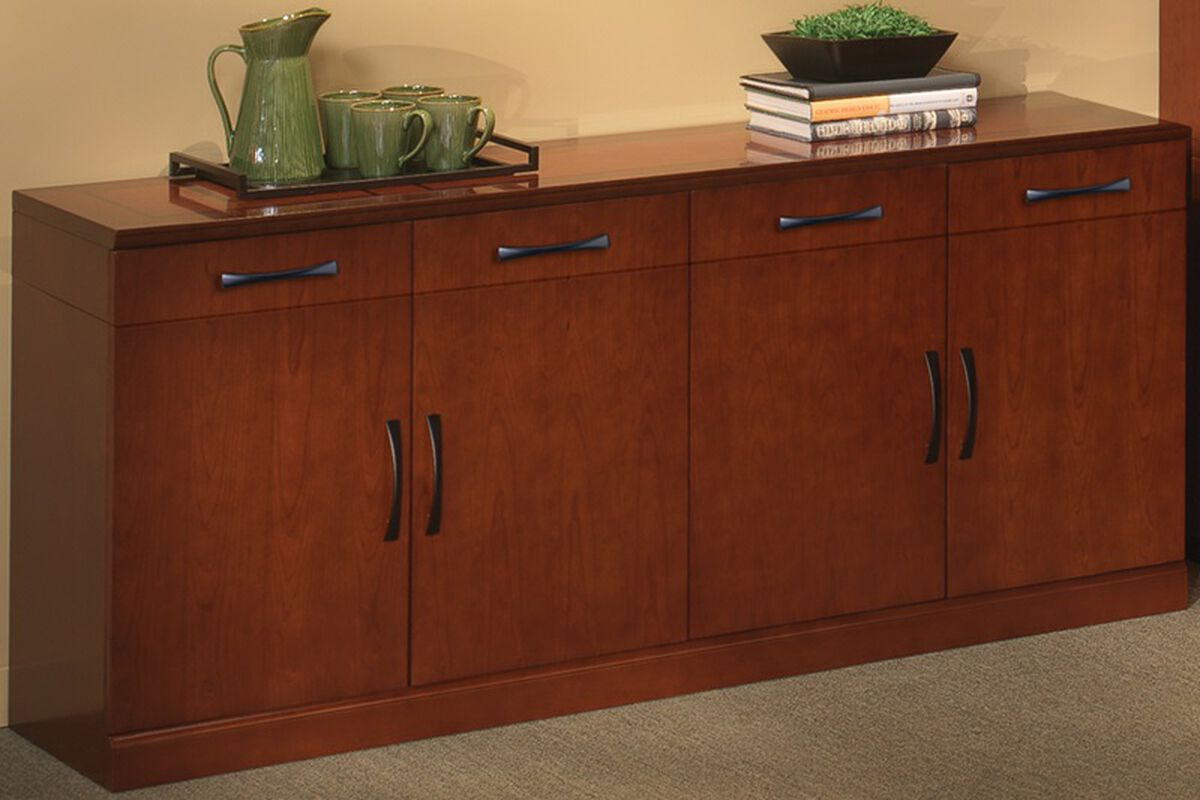 Our Soro 72 W Buffet Cabinet With Wood Doors Bourbon Cherry Is On