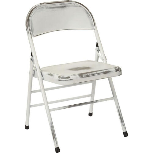 Our OSP Designs Bristow Distressed Steel Folding Chair - Set of 2 - Antique White is on sale now.