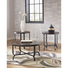 Signature Design by Ashley Ferlin 3 Piece Occasional Table Set