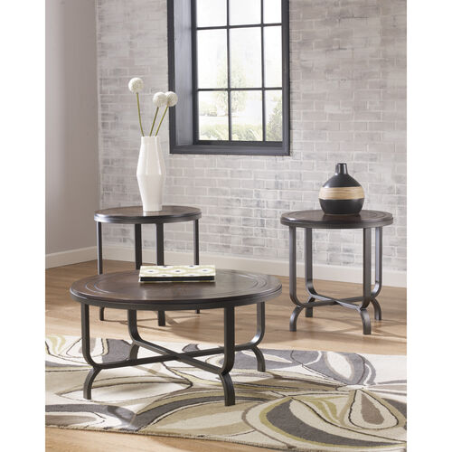 Our Signature Design by Ashley Ferlin 3 Piece Occasional Table Set is on sale now.