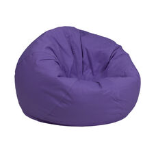 Small Solid Purple Bean Bag Chair for Kids and Teens