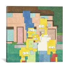 Simpsons by Adam Lister Gallery Wrapped Canvas Artwork