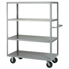 Welded Truck with Push Handle and 4 Flush Shelves