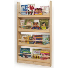 Wall Mount Book Shelf with Four Book Storage Shelves
