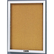 2300 Series Directory Board Cabinet with Tempered Glass Locking Door - 30
