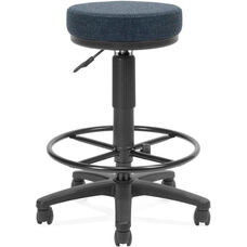 Adjustable Height UtiliStool with Stain Resistant Fabric and Drafting Kit - Blue