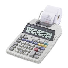 Sharp 12 Digit Calculator -2 Color Printing -5 1/5