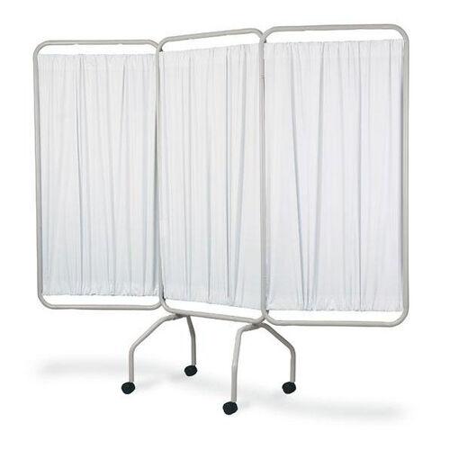 3 Panel Steel Frame Folding Screen With Standard White Vinyl