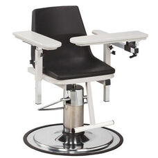 H Series E-Z Clean Adjustable Blood Drawing Chair with ClintonClean™ Arms