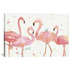 Flamingo Fever I by Anne Tavoletti Gallery Wrapped Canvas Artwork
