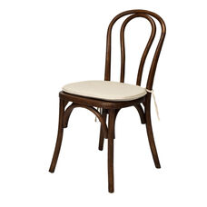American Classic Sonoma Bentwood Stackable Chair with Burlap Cushion - Dark Walnut