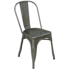 Armless Industrial Indoor Side Chair - Bronze