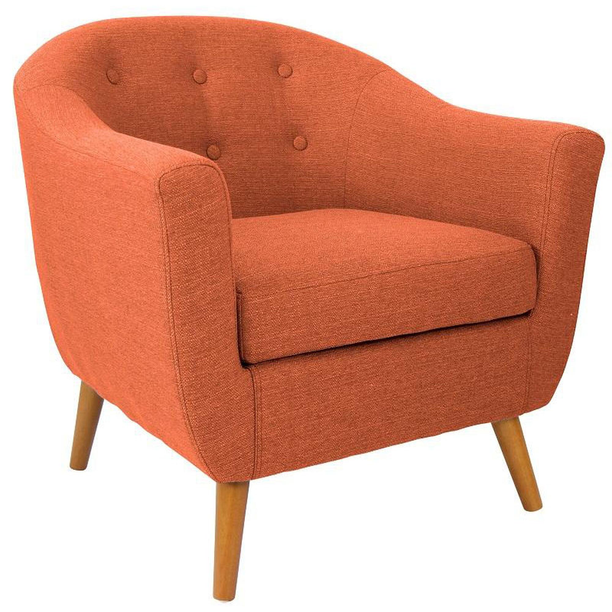 Rockwell Orange Accent Chair Chr Ah Rkwl Or Bizchair Com