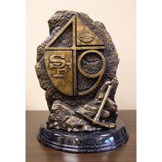 San Francisco 49ers Tim Wolfe Sculpture