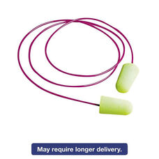Moldex® Pura-Fit Single-Use Earplugs - Corded - 33NRR - Bright Green - 100 Pairs