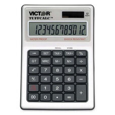 Victor Technology 12 Digit Water/Shock Res Calculator - 4 5/8