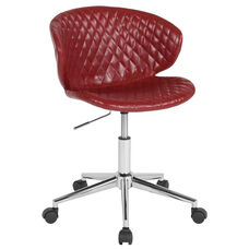 Cambridge Home and Office Upholstered Low Back Chair in Red Vinyl