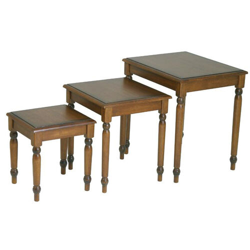 Our OSP Designs Knob Hill 3-Piece Wood Nesting Tables - Cherry is on sale now.