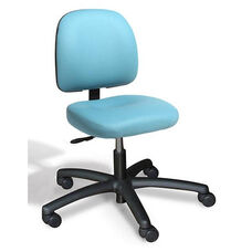 Dimension Small Back Desk Height Cleanroom Chair - 6 Way Control