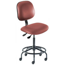 Quick Ship Belize Series Chair with Concave Seat and Tubular Steel Base - Medium Seat Height