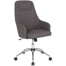 Rennes Home and Office Upholstered High Back Chair in Dark Gray Fabric