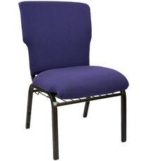 Advantage Eggplant Discount Church Chair - 21 in. Wide