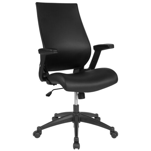 Our High Back Black LeatherSoft Executive Swivel Office Chair with Molded Foam Seat and Adjustable Arms is on sale now.