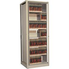 Ez2 Rotary File Shelving 7 Shelves Letter Depth - Adder Unit - Bone White