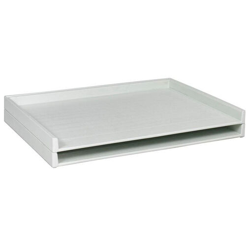 Giant Stack Tray for 30 x 42 Documents - Set of Two - White