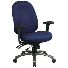Pro-Line II Ergonomic High-Back Chair with Multi Function Control and Titanium Finish Accents