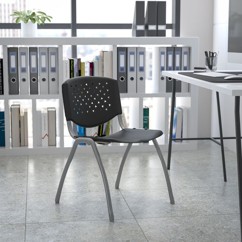 HERCULES Series 880 lb. Capacity Plastic Stack Chair with Powder Coated Frame
