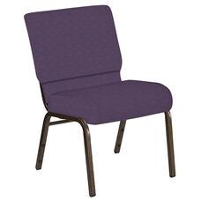 21''W Church Chair in Illusion Wisteria Fabric - Gold Vein Frame