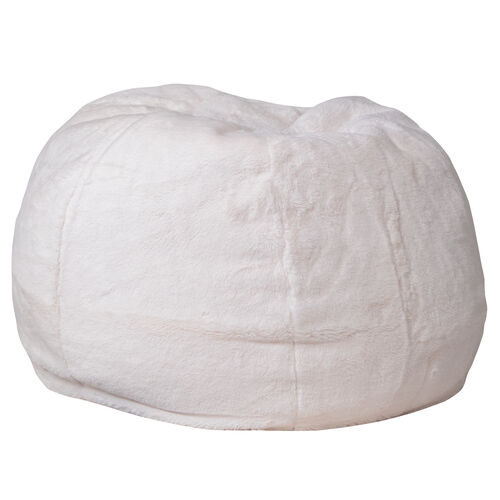 Our Small White Furry Bean Bag Chair for Kids and Teens is on sale now.