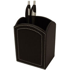 Colors Faux Leather Pencil Cup - Midnight Black