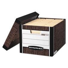 Bankers Box® R-KIVE Max Storage Box - Letter/Legal - Locking Lid - Woodgrain - 12/Carton