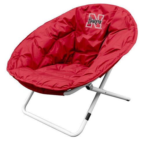 University of Nebraska Team Logo Folding Sphere Chair