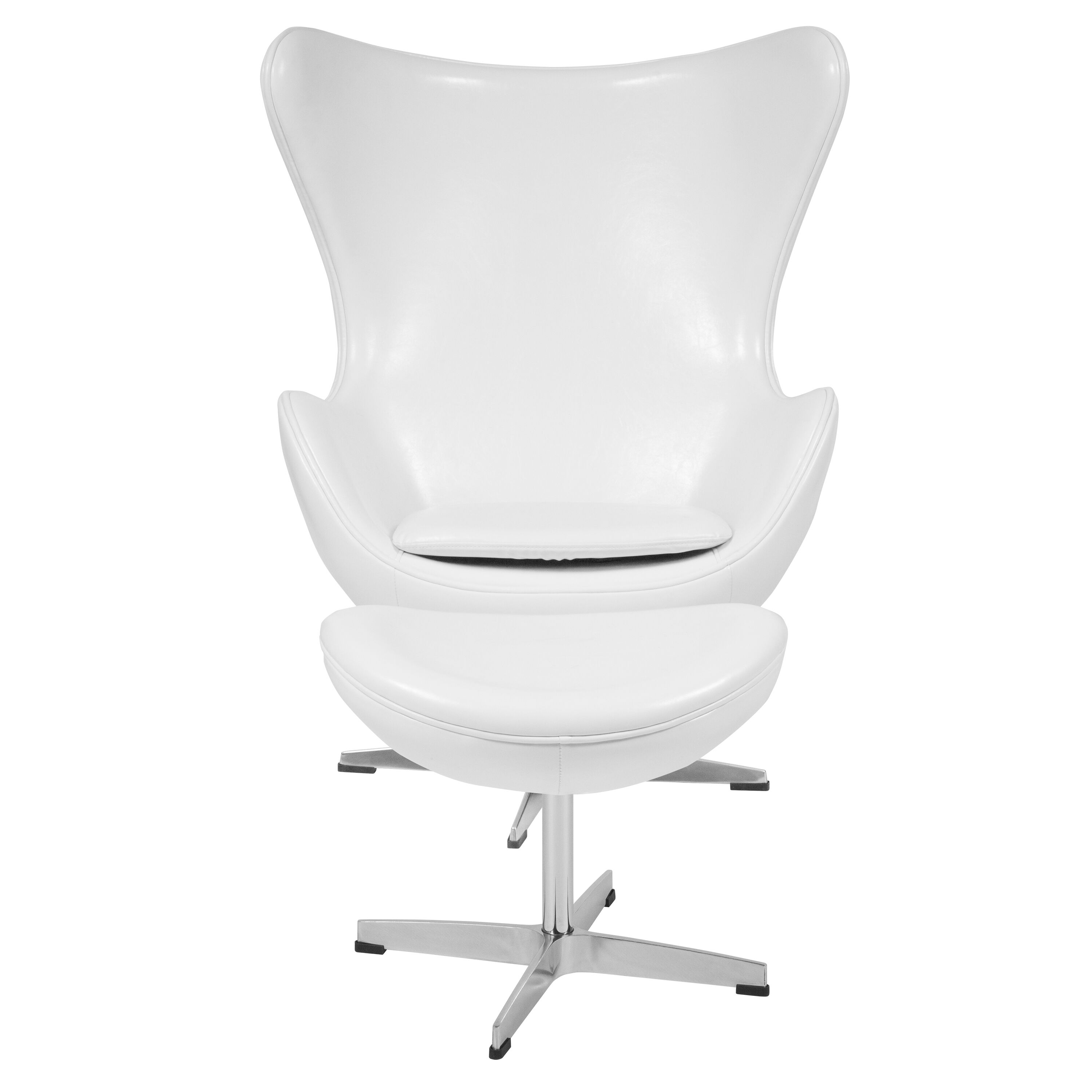 ... Our Melrose White Leather Egg Chair with Tilt-Lock Mechanism and Ottoman is on sale  sc 1 st  Biz Chair & White Leather Egg Chair/OTT ZB-10-CH-OT-GG | Bizchair.com