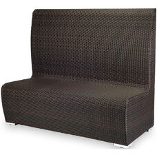 Boca Duraweave Dining Low Back Booth - Espresso
