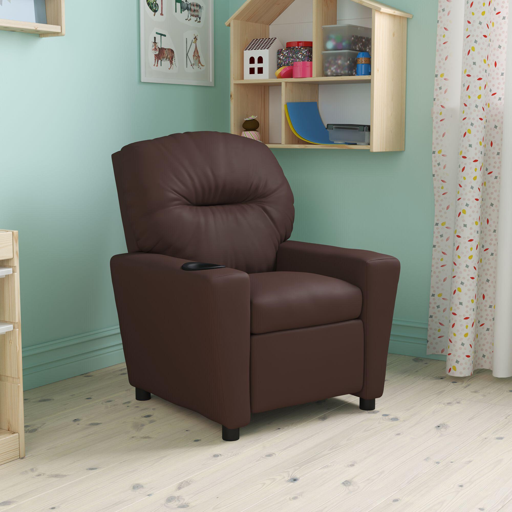 Brown Leather Kids Recliner BT 7950 KID BRN LEA GG