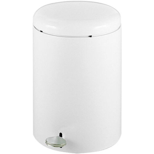 Our Round 4 Gallon Step on Receptacle with Slip Proof Pedal and Lid Restraint Mechanism - White is on sale now.