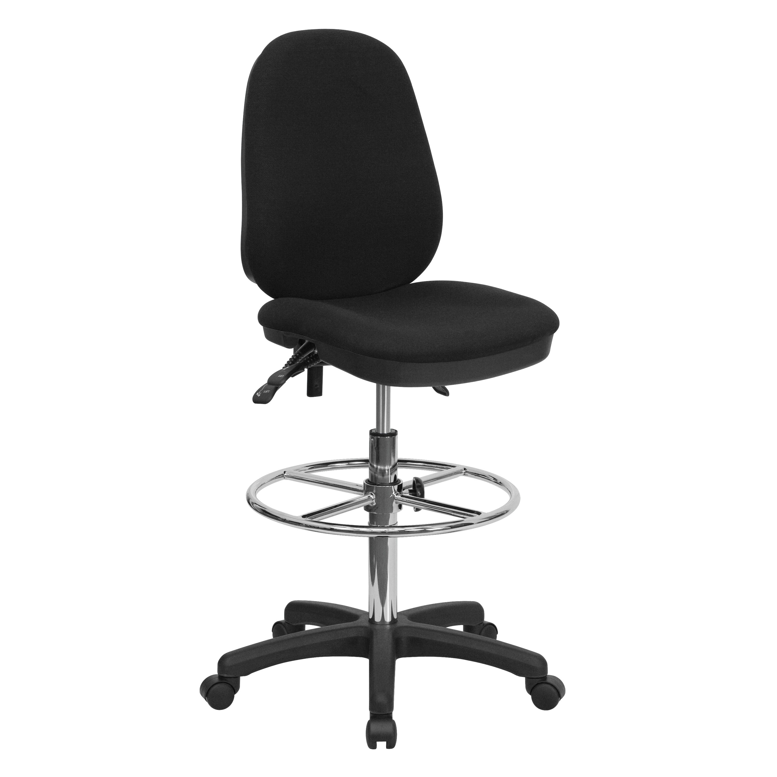 Ordinaire ... Our Black Multifunction Ergonomic Drafting Chair With Adjustable Foot  Ring Is On Sale Now.