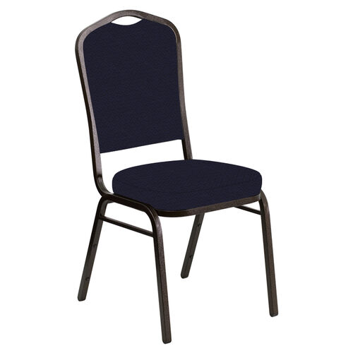 Our Embroidered Crown Back Banquet Chair in Venus Purple Fabric - Gold Vein Frame is on sale now.