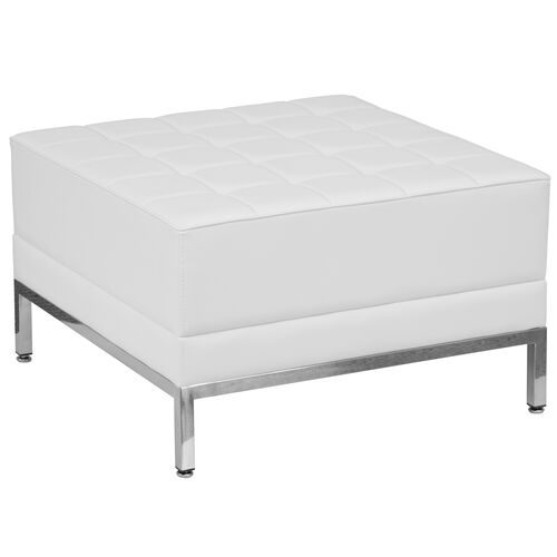 Our HERCULES Imagination Series Melrose White LeatherSoft Ottoman is on sale now.