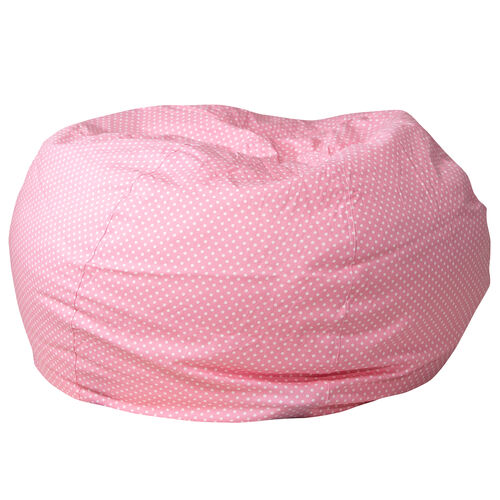 Our Oversized Light Pink Dot Bean Bag Chair for Kids and Adults is on sale now.