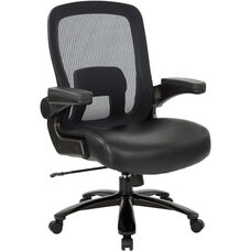 Pro-Line II Big and Tall Deluxe Leather Executive Chair with Mesh Back