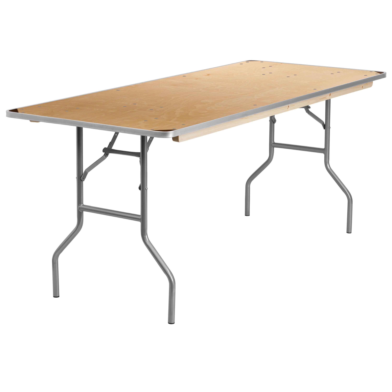30x72 Wood Fold Table Met Edge Xa 3072 Birch M Gg Bizchaircom