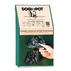 Green Aluminum Junior Bag Dispenser - 2 Rolls of 200 Pick Up Bags